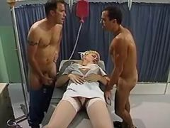 Dirty shemale nurse spoils hospital