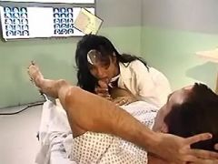 Nasty shemale doctor doing patient