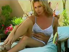 Sexy mistress shemale fucks outdoor